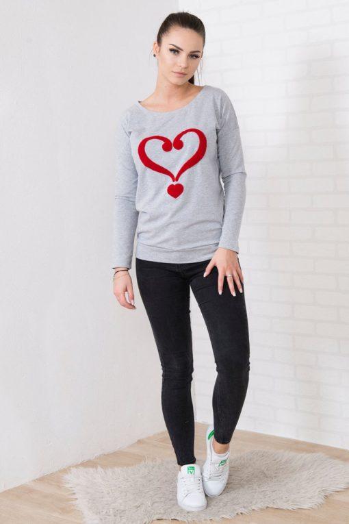 Bluză Cu Model Inimă
