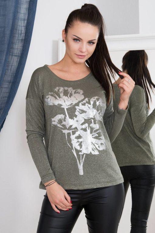Bluză Cu Imprimeu De Flori