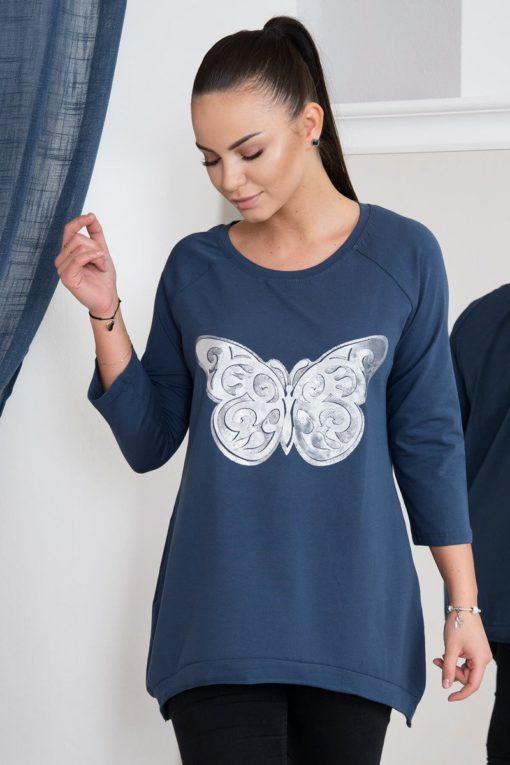 Bluză Lungă Cu Fluture