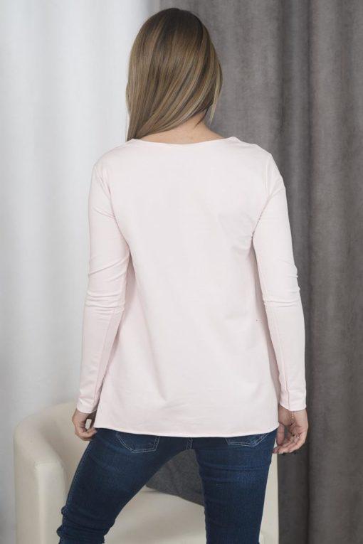 Bluză Cu Model Insignă