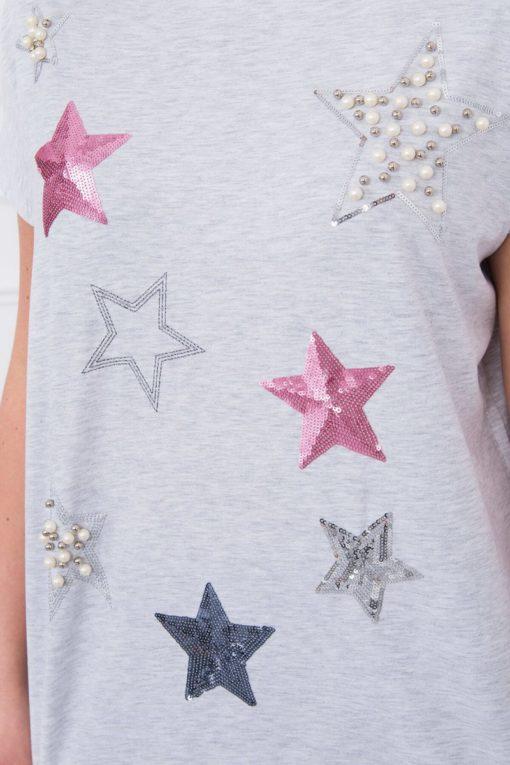 Tricou Cu Stele şi Perle