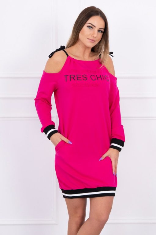 Eng Pl Dress Tres Chic Fuchsia