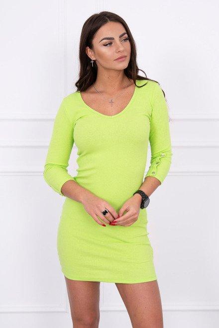 Rochie Cu Nasturi Pe Maneca Green