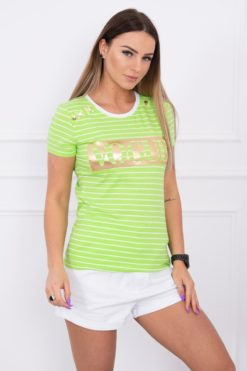 Eng Pl Blouse With Stripes Vogue Green