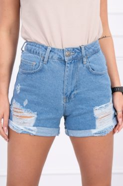 Eng Pl Denim Shorts Ripped