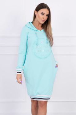 Eng Pl Dress Brooklyn Mint