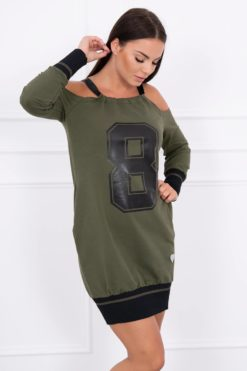 Eng Pl Dress With Number Khaki