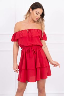 Eng Pl Off The Shoulder Dress Red
