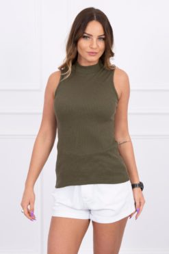Eng Pl Sleeveless Blouse Khaki