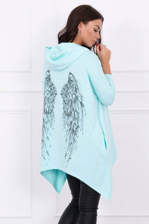 Eng Pl Sweatshirt With Print Wings Mint