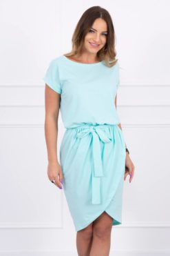 Eng Pl Tied Dress With An Envelope Like Bottom Mint