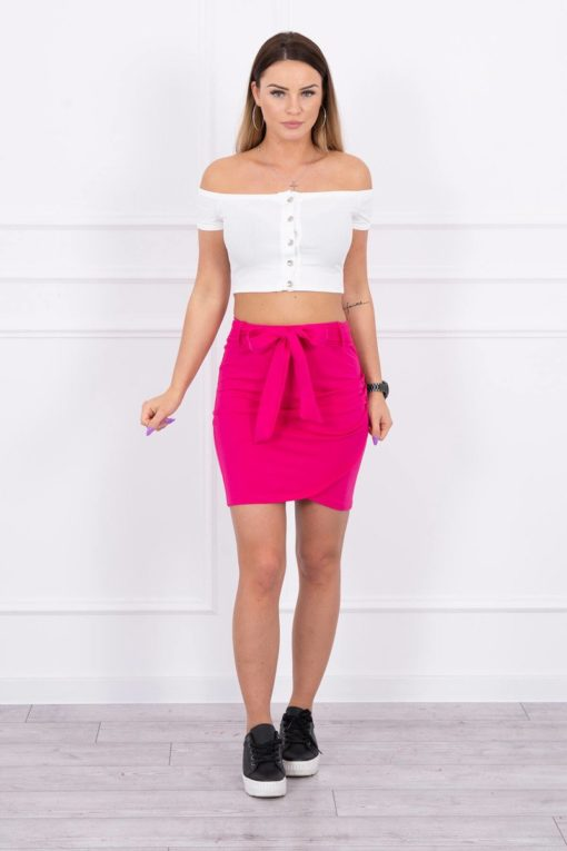 Eng Pl Wrap Skirt Tied At The Waist Fuchsia