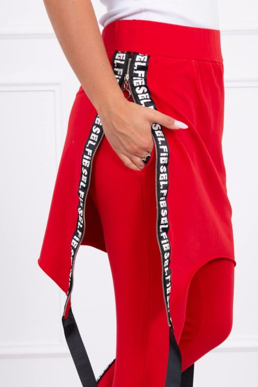 Eng Pl Pants Suit With Selfie Lettering Red