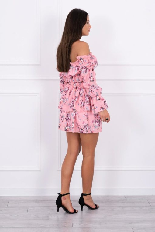 Eng Pl Set With Flower Print Pink