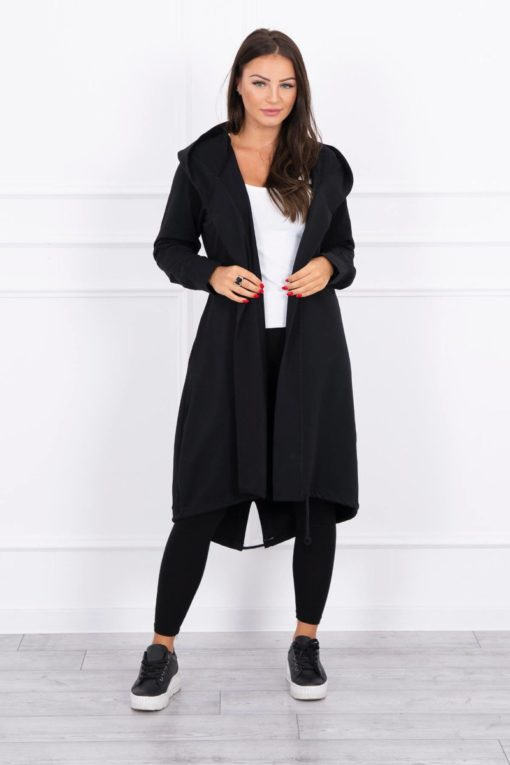 Eng Pl Cardigan With Print Oversize Black