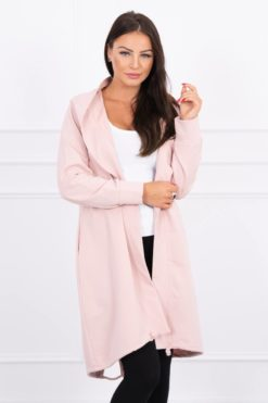 Eng Pl Cardigan With Print Oversize Dark Powdered Pink