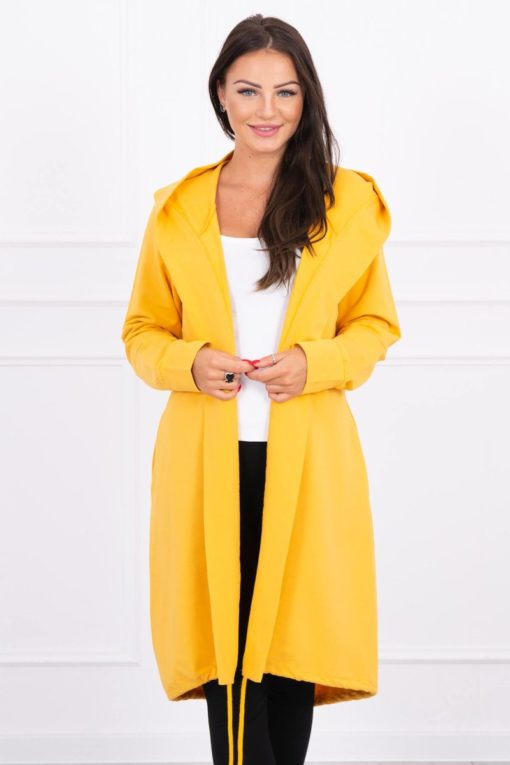 Eng Pl Cardigan With Print Oversize Mustard