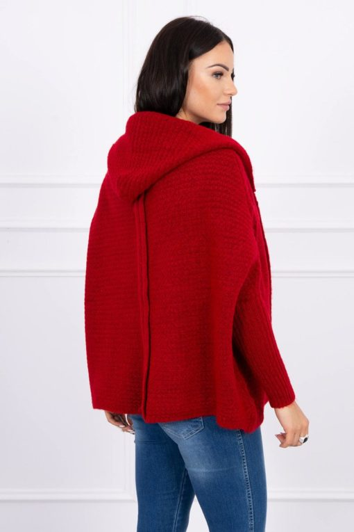 Eng Pl Hooded Sweater With Batwing Sleeve