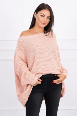 Eng Pl Sweater Oversize Powdered Pink