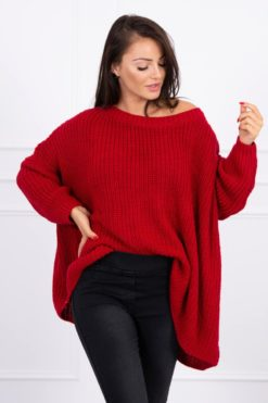 Eng Pl Sweater Oversize Red