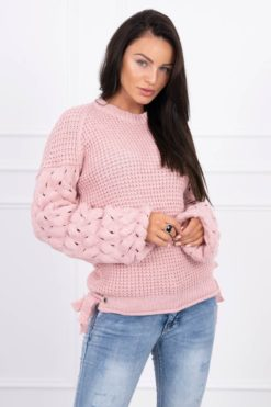 Eng Pl Sweater Tied At The Bottom Powdered Pink