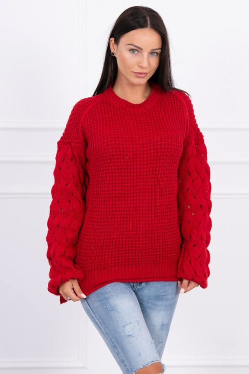 Eng Pl Sweater Tied At The Bottom Red