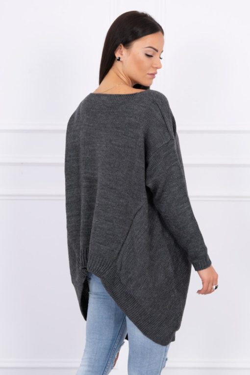 Eng Pl Sweater With Longer Sides Graphite