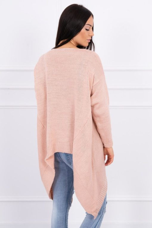 Eng Pl Sweater With Longer Sides Powdered Pink