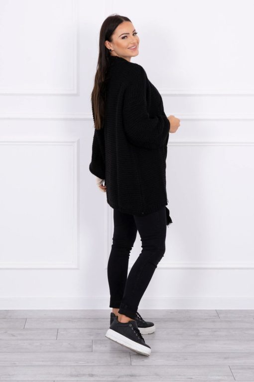 Eng Pl Sweater With Pom Pom Black