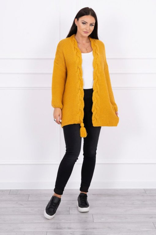 Eng Pl Sweater With Pom Pom Mustard