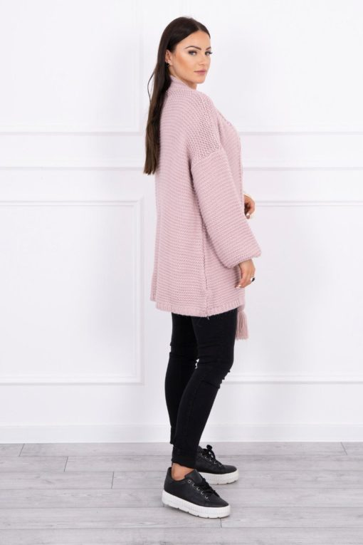 Eng Pl Sweater With Pom Pom Powdered Pink