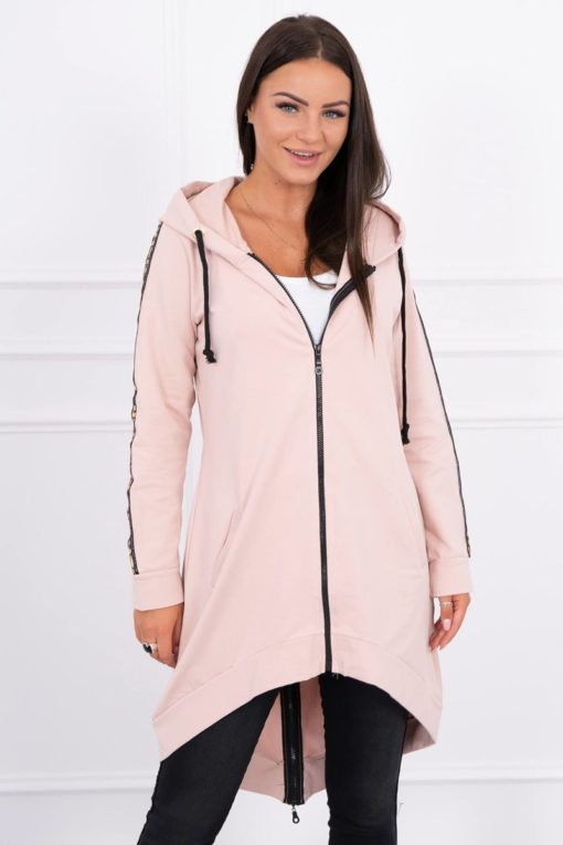 Eng Pl Sweatshirt With Zip At The Back Dark Powdered Pink