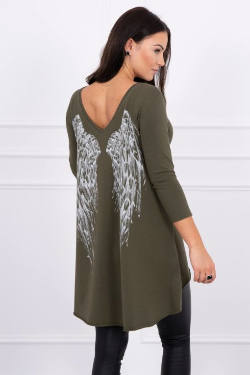 Eng Pl Tunic With Wings Print Khaki