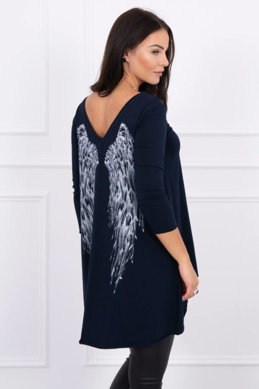 Eng Pl Tunic With Wings Print Navy Blue