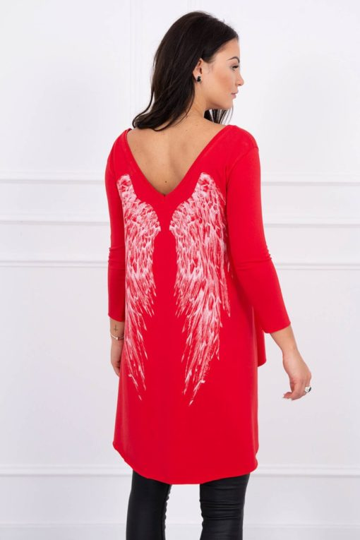 Eng Pl Tunic With Wings Print Red