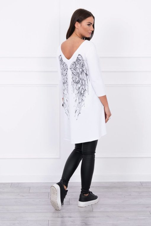 Eng Pl Tunic With Wings Print White
