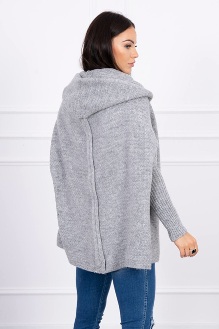 Eng Pm Hooded Sweater With Batwing Sleeve