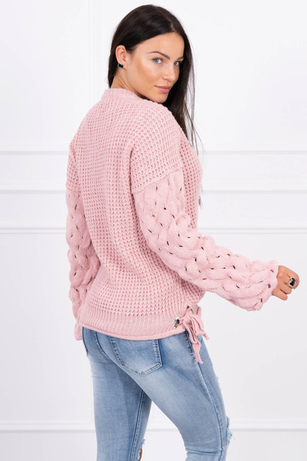 Eng Pm Sweater Tied At The Bottom Powdered Pink