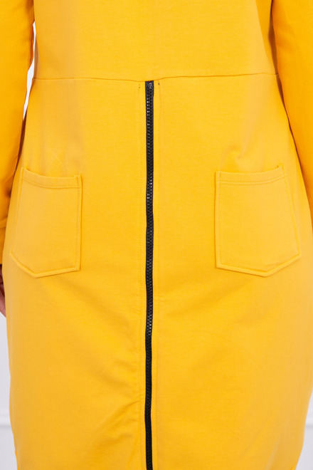 Eng Pm Sweatshirt With Zip At The Back Mustard