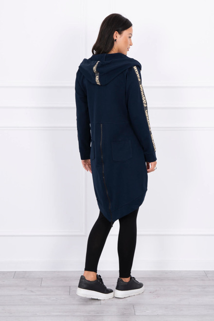 Eng Pm Sweatshirt With Zip At The Back Navy Blue