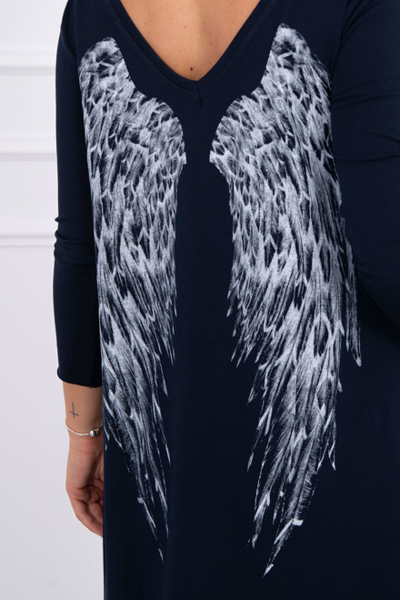 Eng Pm Tunic With Wings Print Navy Blue
