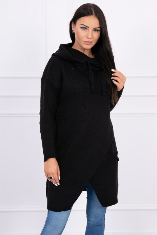 Eng Pl Sweater With Envelope Bottom Black