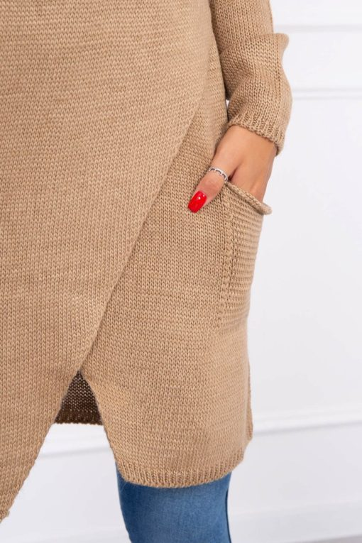 Eng Pl Sweater With Envelope Bottom Camel