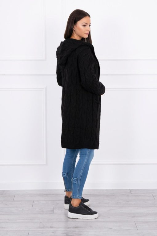 Eng Pl Sweater With Hood And Pockets Black