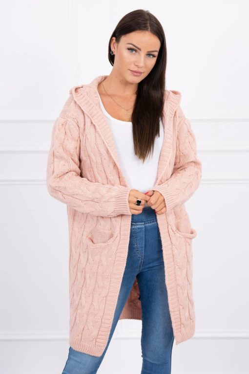 Eng Pl Sweater With Hood And Pockets Powdered Pink