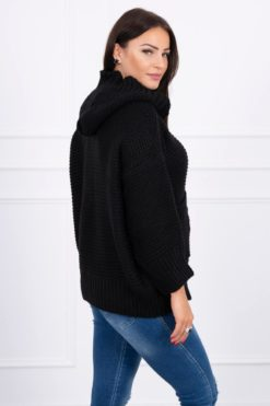 Eng Pl Sweater With Press Studs Black