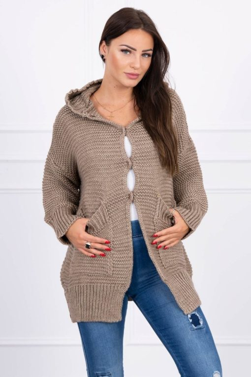 Eng Pl Sweater With Press Studs Cappuccino