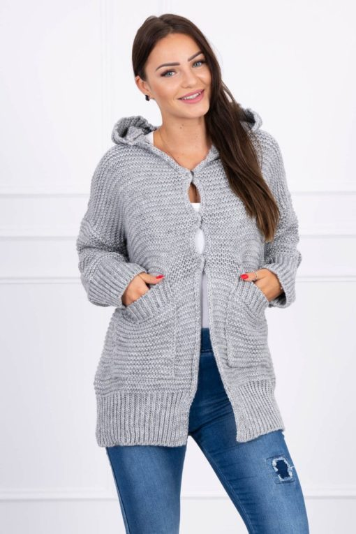 Eng Pl Sweater With Press Studs Gray