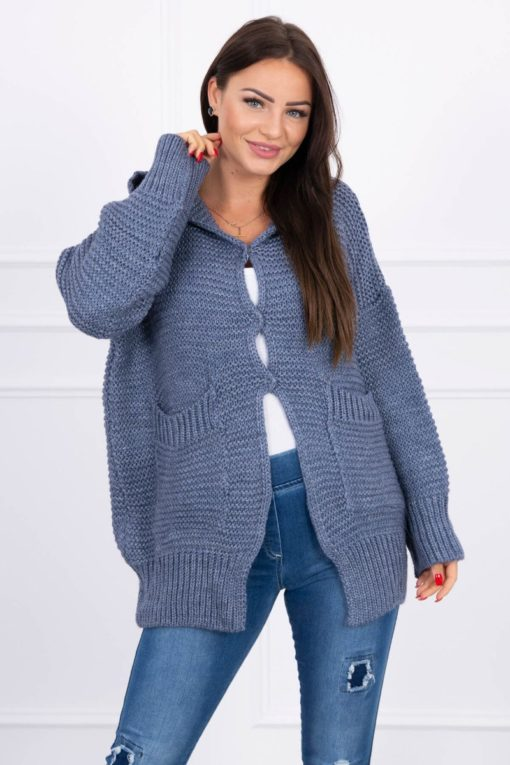 Eng Pl Sweater With Press Studs Jeans