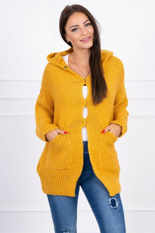 Eng Pl Sweater With Press Studs Mustard